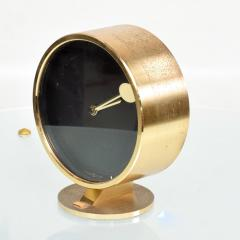 Howard Miller Howard Miller Classic Modern 1970s Desk Table Clock in Patinated Brass - 1632656