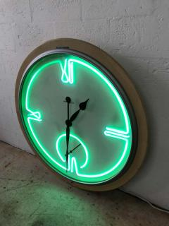 Howard Miller Postmodern Monumental Howard Miller Neon Wall Clock - 1492013