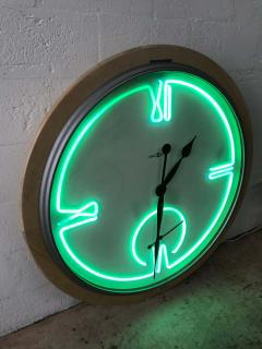 Howard Miller Postmodern Monumental Howard Miller Neon Wall Clock - 1492014