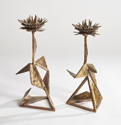 Hubert Le Gall Chardons Candlesticks - 907389