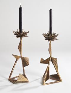 Hubert Le Gall Chardons Candlesticks - 907397