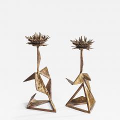 Hubert Le Gall Chardons Candlesticks - 908433