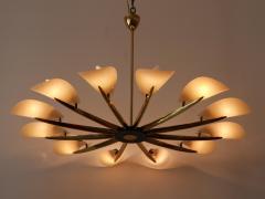 Huge Mid Century Modern 12 Armed Sputnik Chandelier or Pendant Lamp 1950s - 1802230