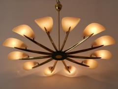 Huge Mid Century Modern 12 Armed Sputnik Chandelier or Pendant Lamp 1950s - 1802233