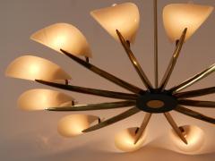 Huge Mid Century Modern 12 Armed Sputnik Chandelier or Pendant Lamp 1950s - 1802235