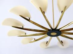 Huge Mid Century Modern 12 Armed Sputnik Chandelier or Pendant Lamp 1950s - 1802240
