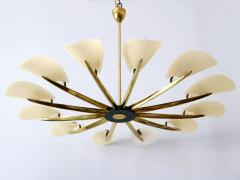 Huge Mid Century Modern 12 Armed Sputnik Chandelier or Pendant Lamp 1950s - 1802241
