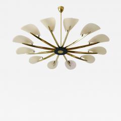 Huge Mid Century Modern 12 Armed Sputnik Chandelier or Pendant Lamp 1950s - 1804049