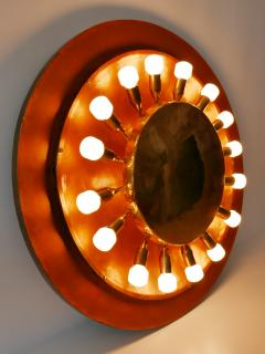 Huge Mid Century Modern Copper Brass Flush Mount or Wall Lamp Germany 1960s - 2066933