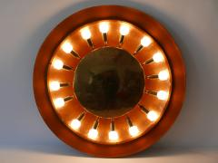Huge Mid Century Modern Copper Brass Flush Mount or Wall Lamp Germany 1960s - 2066934