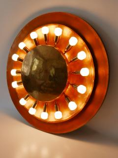 Huge Mid Century Modern Copper Brass Flush Mount or Wall Lamp Germany 1960s - 2066936