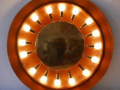 Huge Mid Century Modern Copper Brass Flush Mount or Wall Lamp Germany 1960s - 2066937