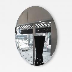 Huge Round Italian Mirror circa 1970 with Bubles Decor - 1108842