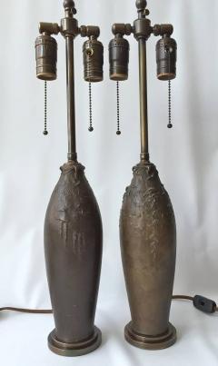 Hugo Elmquist Almost a Pair of Bronze Lamps by Hugo Elmquist circa 1900 - 1027874