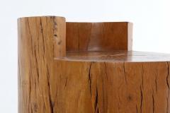 Hugo Franca Unique Contemporary Tambor Stool by Hugo Fran a in Pequi hardwood Brazil - 1227562