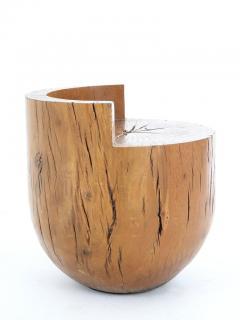 Hugo Franca Unique Contemporary Tambor Stool by Hugo Fran a in Pequi hardwood Brazil - 1227565