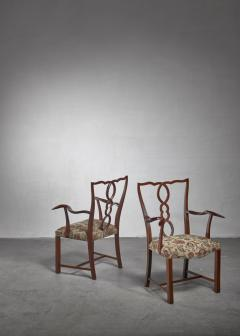 Hugo Gorge Pair of Hugo Gorge armchairs Austria 1920s - 1247147