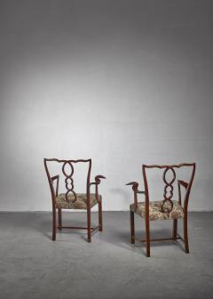 Hugo Gorge Pair of Hugo Gorge armchairs Austria 1920s - 1247148