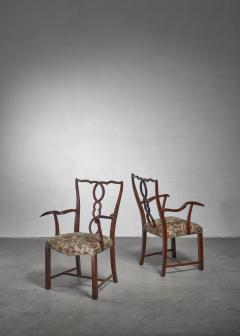 Hugo Gorge Pair of Hugo Gorge armchairs Austria 1920s - 1247149