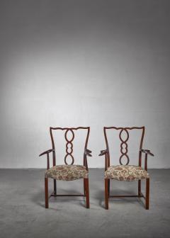 Hugo Gorge Pair of Hugo Gorge armchairs Austria 1920s - 1247150