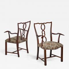 Hugo Gorge Pair of Hugo Gorge armchairs Austria 1920s - 1248082