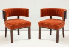 Hungarian Art Deco Macassar Ebony Club Chairs - 1266768