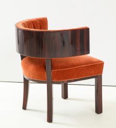 Hungarian Art Deco Macassar Ebony Club Chairs - 1266772