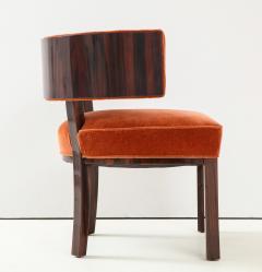 Hungarian Art Deco Macassar Ebony Club Chairs - 1266773