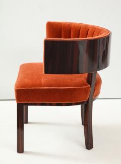 Hungarian Art Deco Macassar Ebony Club Chairs - 1266774