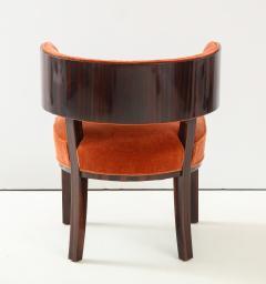 Hungarian Art Deco Macassar Ebony Club Chairs - 1266775