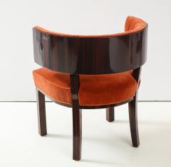 Hungarian Art Deco Macassar Ebony Club Chairs - 1266777