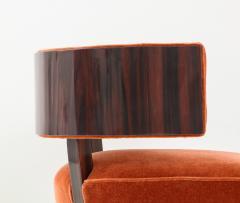 Hungarian Art Deco Macassar Ebony Club Chairs - 1266778