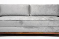 Hungarian Art Deco Solid Walnut Wood Sofa - 1194088