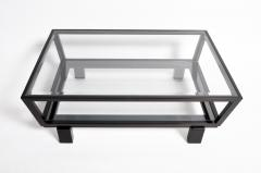 Hungarian Solid Beechwood and Glass Coffee Table - 1194096