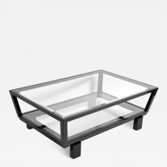 Hungarian Solid Beechwood and Glass Coffee Table - 1195189