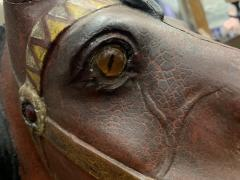 IMPORTANT CARVED TURN OF THE CENTURY CAROUSEL HORSE - 1025513