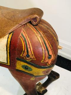 IMPORTANT CARVED TURN OF THE CENTURY CAROUSEL HORSE - 1025515
