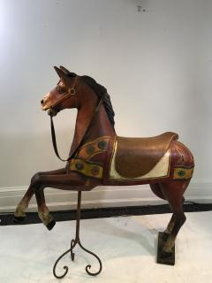 IMPORTANT CARVED TURN OF THE CENTURY CAROUSEL HORSE - 1025526