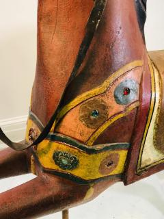 IMPORTANT CARVED TURN OF THE CENTURY CAROUSEL HORSE - 1025527