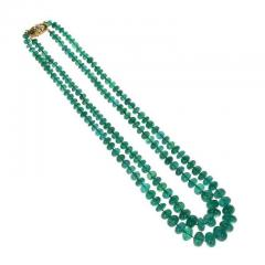 IMPRESSIVE EMERALD BEAD YELLOW GOLD NECKLACE - 1903955