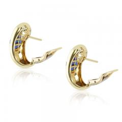 INVISIBLY SET SAPPHIRE EARRINGS 18K YELLOW GOLD - 2021784