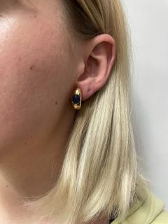 INVISIBLY SET SAPPHIRE EARRINGS 18K YELLOW GOLD - 2021786