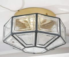 IRON AND GLASS FLUSH MOUNT - 1068290