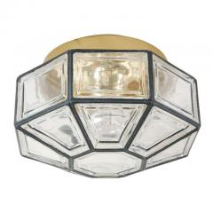 IRON AND GLASS FLUSH MOUNT - 1068291