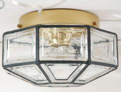 IRON AND GLASS FLUSH MOUNT - 1068292