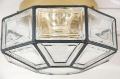 IRON AND GLASS FLUSH MOUNT - 1068293