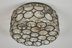 IRON AND GLASS FLUSH MOUNT - 1252385