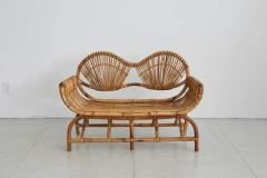 ITALIAN BAMBOO SETTEE AND CHAIRS - 1412926