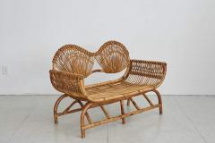 ITALIAN BAMBOO SETTEE AND CHAIRS - 1412927