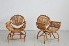 ITALIAN BAMBOO SETTEE AND CHAIRS - 1412931